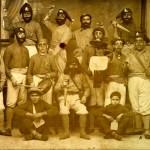 Agrupación carnavalesca 'Los piratas de Singapore' de 1934. Colección de Francisco Javier Camacho Ortega