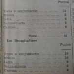 """Puntuaciones para los coros """"Dantón..."""" y """"Los decapitadores"""" según un aficionado. La información, 9 de febrero de 1932."""