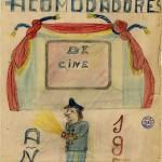 """Croquis de la chirigota """"Los acomodadores de cine"""". Archivo Histórico Municipal de Cádiz."""